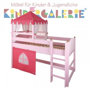 ANNETTE FRANK Spielbett Schloss rosa