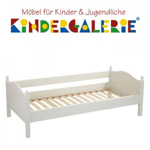 Einzelbett 90x200cm • mit Candisbogen Kopf- & Fußteil • div. Farben • ANNETTE FRANK