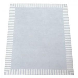 Teppich Grau Streifenrand Grau • 140x200cm • ANNETTE FRANK