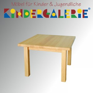 debe.detail Kindertisch 60x60cm, Buche natur