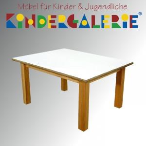 debe.detail Kindertisch 60x90cm, Buche natur / HPL weiß