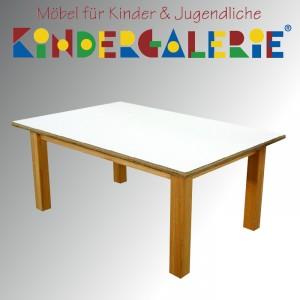 debe.detail Kindertisch 60x120cm, Buche natur / HPL weiß