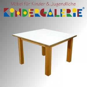 debe.detail Kindertisch 60 x 60cm, Buche natur / HPL weiß