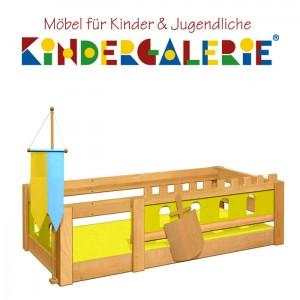 debe.deluxe Burg Kinderbett niedrige Version
