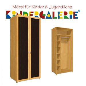 debe.deluxe Kleiderschrank • zweitürig • Breite 80cm • mit Türfüllung in diversen Farben