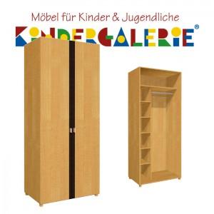 debe.deluxe Kleiderschrank • zweitürig • Breite 80cm • mit Akzentfarbe in diversen Farben