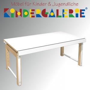"""debe.delite """"Ziggy-Schreibtisch 68x120cm"""" in Buche natur / Platte HPL weiß"""