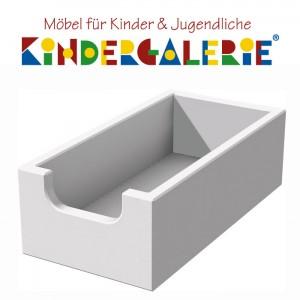ANDERSon Schreibtisch Zubehör • Materialkasten für Hängeregal • Buche weiß lackiert