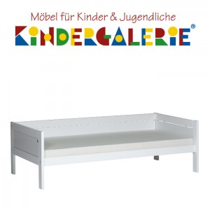 LIFETIME Basisbett / Pritsche 90x200cm weiß lackiert ORIGINAL