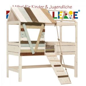 LIFETIME Baumhütte • halbhohes Hochbett whitewash • ORIGINAL