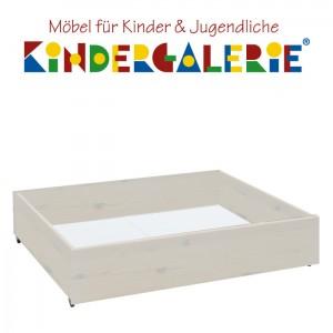 LIFETIME Bett Zubehör • Bettkasten klein 99x90cm • whitewash • ORIGINAL