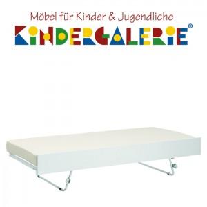 LIFETIME Bett Zubehör • Gästebett / Auszugsbett mit Jump-Up-Funktion • weiß lackiert • ORIGINAL