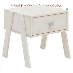 LIFETIME Nachttisch mit Schublade • whitewash • ORIGINAL