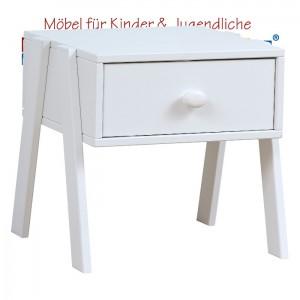 LIFETIME Nachttisch mit Schublade • weiß lackiert • ORIGINAL
