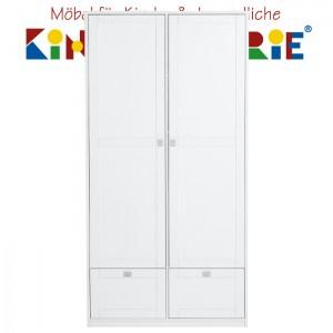 LIFETIME Schrank mit 2 Türen und 2 Laden • weiß lackiert • ORIGINAL