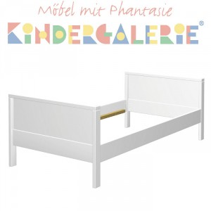 MATTI Kinderbett / Jugendbett weiß lackiert