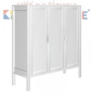 MATTI Schrank 3-türig in weiß lackiert