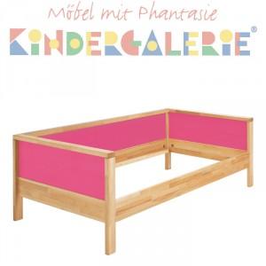 MATTI Pritsche / Couch natur / Füllungen pink