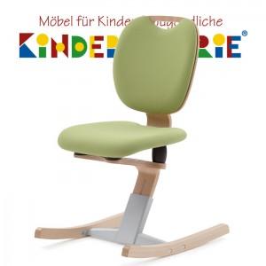MOIZI 6 Kufenstuhl • Buchenformholz lackiert • mit Polstersitzdoppel in diversen Farben • höhenverstellbar