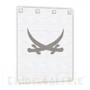 debe.deluxe Pirat Zubehör • kleiner Bettvorhang in weiß