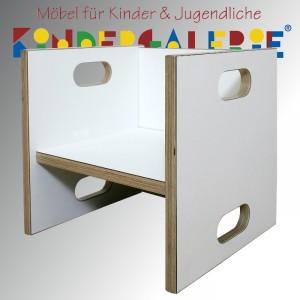 debe.detail Würfelhocker / Wandelstuhl weiß / weiß