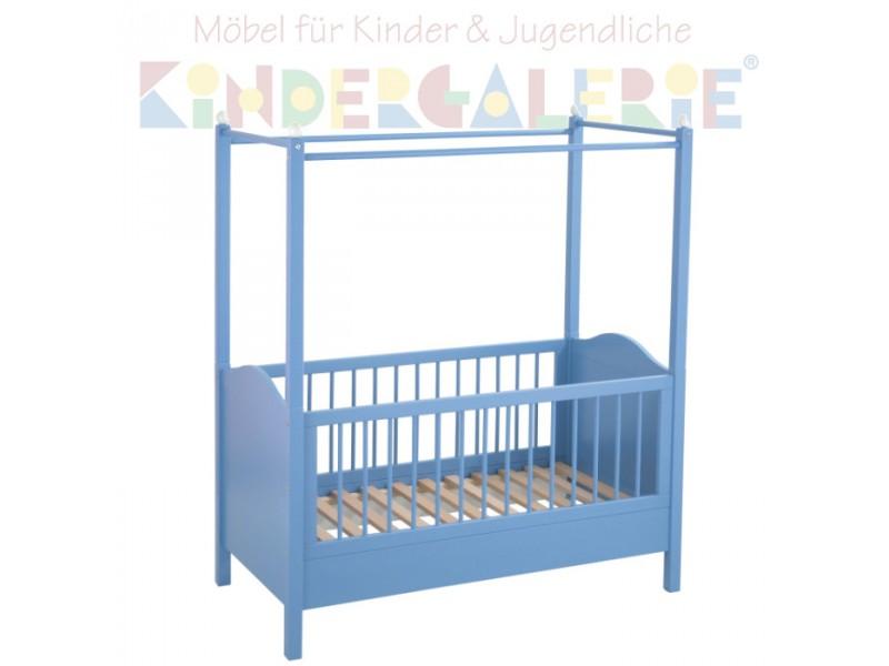 Kinderbett segelboot  Babybett / Kinderbett lillebro • 70x140cm • mit Himmelsgestell ...