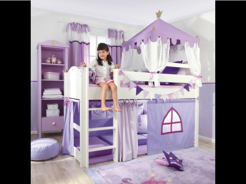 Spielbett Schloss oder Krone • 90x200cm • reinweiß • ANNETTE FRANK