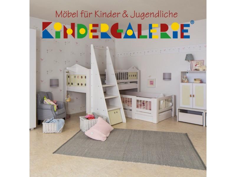 Niedriges Etagenbett : Debe.deluxe villa halbhohes hochbett & niedriges kinderbett über eck