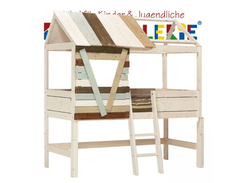 Hochbett Leiter Schräg : Lifetime baumhütte u2022 halbhohes hochbett whitewash mit leiter schräg