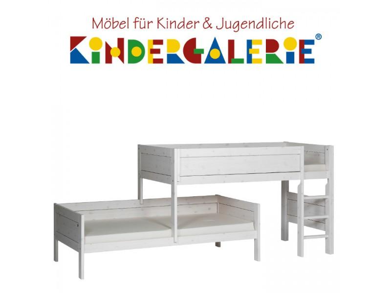 LIFETIME Bett / Etagenbett Für Dachschräge Mit Gerader Leiter U2022 Whitewash U2022  ORIGINAL