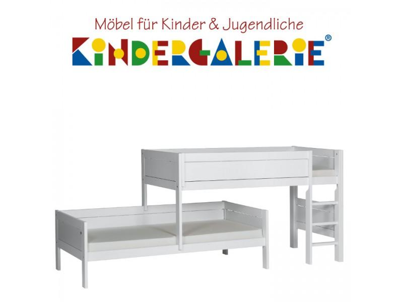 Finest Lifetime Bett Etagenbett Fr Dachschrge Mit Gerader Leiter Wei  Lackiert Original With Jugend Etagenbett