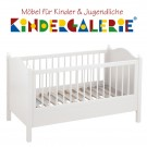 Babybett / Kinderbett lillebro • 70x140cm • reinweiß • ANNETTE FRANK