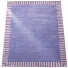 Teppich Lila Streifenrand Flieder • 140x200cm • ANNETTE FRANK