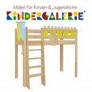 debe.deluxe Burg Hochbett • diverse Farbkombinationen