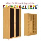 debe.deluxe Eck-Kleiderschrank • 2-türig • Breite 101cm • mit Frontfüllung
