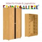 debe.deluxe Eck-Kleiderschrank • 2-türig • Breite 101cm • mit Akzentleisten