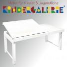 """debe.destyle """"Ziggy-Schreibtisch 68x120cm mit geteilter Platte"""", in weiß gebeizt oder 13 weiteren Farbtönen"""