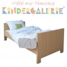 kai:ko Kinderbett / Jugendbett 90x200cm in Eiche oder Nussbaum matt