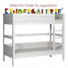 LIFETIME Bett / Etagenbett mit gerader Leiter • whitewash • ORIGINAL