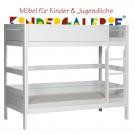 LIFETIME Bett / Etagenbett mit gerader Leiter • weiß lackiert • ORIGINAL