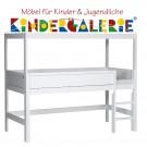 LIFETIME Bett / Minihochbett mit Himmelsgestell • weiß lackiert • ORIGINAL