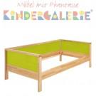 MATTI Pritsche / Couch natur / Füllungen hellgrün