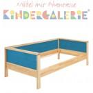 MATTI Pritsche / Couch natur / Füllungen hellblau
