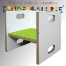 debe.detail Würfelhocker / Wandelstuhl weiß / lindgrün