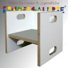 debe.detail Würfelhocker / Wandelstuhl weiß / hellgrau