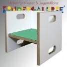 debe.detail Würfelhocker / Wandelstuhl weiß / mint