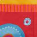 MATTI Schreibtisch-Deko-Stoffverkleidung in rot